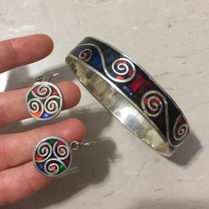 handmade earrings bracelet boho set